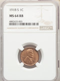 1918-S 1C MS64 Red and Brown NGC. NGC Census: (100/41). PCGS Population: (220/34). CDN: $425 Whsle. Bid for NGC/PCGS MS6...