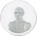 Political:3D & Other Display (pre-1896), Zachary Taylor: Clear Glass Sulphide Paperweight by Clichy....