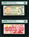 Canada Bank of Canada $20; 50 1979; 1988 BC-54c-i; BC-59d Two Examples PMG Very Fine 30; Choice About Unc 58 EPQ. ... (T...