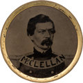 Political:Ferrotypes / Photo Badges (pre-1896), George B. McClellan: Minty and Unusual Ferrotype Shank Button....