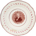 Political:3D & Other Display (pre-1896), Andrew Jackson: Strawberry Luster Plate. . ...