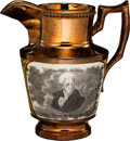 Political:3D & Other Display (pre-1896), Andrew Jackson: Smallest Size Copper Luster Pitcher.. ...