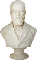 Political:3D & Other Display (pre-1896), James A. Garfield: Large Parian Ware Bust. . ...