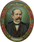 Political:3D & Other Display (1896-present), Alton B. Parker: Colorful Beer Tray Advertising a Western Newspaper.. ...
