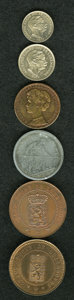 Luxembourg, Luxembourg: A mixed group of patterns and Essais consisting of:...(Total: 6 coins)