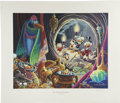"Original Comic Art:Miscellaneous, Carl Barks - ""Dangerous Discovery,"" Regular Edition Lithograph,numbered 4/350 (Another Rainbow, 1993)...."