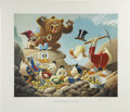 """Original Comic Art:Miscellaneous, Carl Barks - """"Trespassers Will Be Ventilated,"""" Regular EditionLithograph, numbered 4/345 (Another Rainbow, 1987).. ..."""