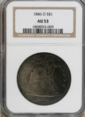 Seated Dollars: , 1846-O $1 AU53 NGC. NGC Census: (16/61). PCGS Population (11/48).Mintage: 59,000. Numismedia Wsl. Price for NGC/PCGS coin ...