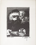 "Original Comic Art:Miscellaneous, Rick Griffin - ""Art and Death"" Art Print (1989)...."