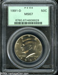 Kennedy Half Dollars: , 1991-D MS67 PCGS. ...