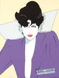 Patrick Nagel Nobel Art Gallery Signed Limited Edition #141/250 Serigraph (Mirage Editions, 1982)