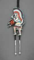 American Indian Art:Jewelry and Silverwork, A Large and Versatile Zuni Bolo Tie Edward ...
