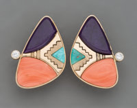 A Pair of Hopi Clip-On Earrings