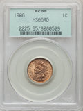 1906 1C MS65 Red PCGS. PCGS Population: (202/54). NGC Census: (128/35). CDN: $410 Whsle. Bid for NGC/PCGS MS65. Mintage...