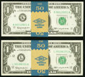 Fr. 1900-K $1 1963 Federal Reserve Notes. Fifty Consecutive Examples. Choice CU; Fr. 1900-L $1 1963 Federal Res... (Tota...