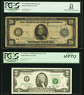 Large Size:Federal Reserve Notes, Fr. 990 $20 1914 Federal Reserve Note PCGS Apparent Fine 12, partial teller stamp on face;. Fr. 1939-K* $2 2009 Federal Re... (Total: 2 notes)