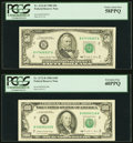 Fr. 2123-B $50 1988 Federal Reserve Note. PCGS Choice About New 58PPQ; Fr. 2172-B $100 1988 Federal Reserve Note. PCGS E...