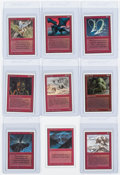 "Memorabilia:Trading Cards, Magic the Gathering Unlimited ""Red"" Uncommon Cards Group of 9 (Wizards of the Coast, 1993) Condition: Average NM.... (Total: 9 Items)"