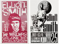"""Music Memorabilia:Posters, Elliott Smith 11"""" x 17"""" Concert Posters (2) Designed By Mike King (circa late 1990s/early 2000s).... (Total: 2 Items)"""