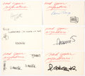 Memorabilia:Comic-Related, Sergio Aragonés, Don Martin, and Others - MAD Artists' Autographs Group of 6 (c. 1980s).. ... (Total: 6 Items)