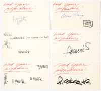 Sergio Aragonés, Don Martin, and Others - MAD Artists' Autographs Group of 6 (c. 1980s). ... (Total: 6 Items)
