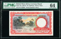 British West Africa West African Currency Board 20 Shillings 1.3.1954 Pick 10a PMG Choice Uncirculated 64
