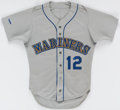 Baseball Collectibles:Uniforms, Mark Langston Game-Used Jersey and Pants (Seattle)....