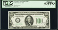 Fr. 2155-J $100 1934C Federal Reserve Note. PCGS Choice New 63PPQ