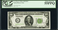 Small Size:Federal Reserve Notes, Fr. 2151-G $100 1928A Dark Green Seal Federal Reserve Note. PCGS Choice About New 55PPQ.. ...