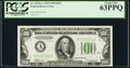 Fr. 2152-A $100 1934 Dark Green Seal Federal Reserve Note. PCGS Choice New 63PPQ