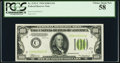 Fr. 2152-C $100 1934 Light Green Seal Federal Reserve Note. PCGS Choice About New 58