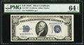 Fr. 1704* $10 1934C Silver Certificate Star. PMG Choice Uncirculated 64 EPQ