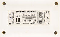 The Beatles Unused Concert Ticket Suffolk Downs August 18th (1966)