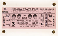 The Beatles Indiana State Fair Unused Concert Ticket- Pink September 3rd (1964)