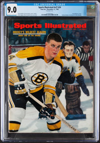 Bobby Orr First Sports Illustrated Cover - CGC 9.0 Pop One with None Higher
