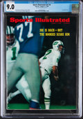Football Collectibles:Publications, 1969 Sports Illustrated Joe Namath - CGC 9.0 Pop One with None Higher....