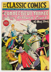 Classic Comics #24 A Connecticut Yankee in King Arthur's Court - First Edition (Gilberton, 1945) Condition: FN-