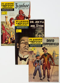 Classics Illustrated Group of 4 Twin Circle Edition (Gilberton, 1940s) Condition: Average VF/NM.... (Total: 4 )