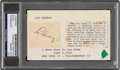 Baseball Collectibles:Others, 1930's Lou Gehrig Signed Cut, PSA/DNA Authentic. ...