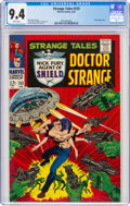 Silver Age (1956-1969):Superhero, Strange Tales #153 (Marvel, 1967) CGC NM 9.4 White pages....