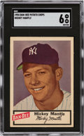 Baseball Cards:Singles (1950-1959), 1954 Dan-Dee Potato Chips Mickey Mantle SGC EX/NM 6. ...