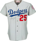 Baseball Collectibles:Uniforms, 1976 Tommy John Game Worn & Signed Los Angeles Dodgers Jersey, MEARS A10....