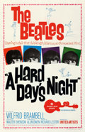 """Movie Posters:Rock and Roll, A Hard Day's Night (United Artists, 1964). Good- on Linen. One Sheet (27"""" X 41.5"""").. ..."""