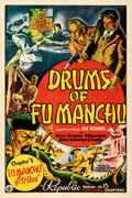 """Movie Posters:Serial, Drums of Fu Manchu (Republic, 1940). Very Fine+ on Linen. One Sheet (27"""" X 41"""") Chapter 1 -- """"Fu Manchu Strikes."""". ..."""