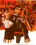 A Fistful of Dollars by Fred Otnes (United Artists, 1967). Very Fine+. Original Mixed Media Poster Artwork on Illustrati...