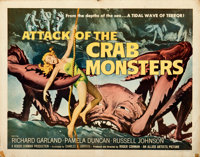 """Attack of the Crab Monsters (Allied Artists, 1957). Folded, Fine. Half Sheet (22"""" X 28"""")"""