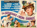 "Movie Posters:Comedy, The Importance of Being Earnest (Rank, 1952). Folded, Fine. British Quad (30"" X 40"") Roger Hall Artwork.. ..."