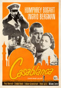 "Movie Posters:Academy Award Winners, Casablanca (United Artists, R-Late 1960s). Fine+ on Linen. Brazilian One Sheet (22.25"" X 34.75"").. ..."