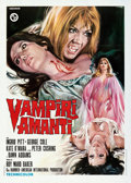 Movie Posters:Horror, The Vampire Lovers (CIDIF, 1972). Folded, Very Fine.