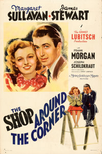 """The Shop Around the Corner (MGM, 1940). Folded, Fine+. One Sheet (27"""" X 41""""). Style D. From the Mike Kaplan Co..."""